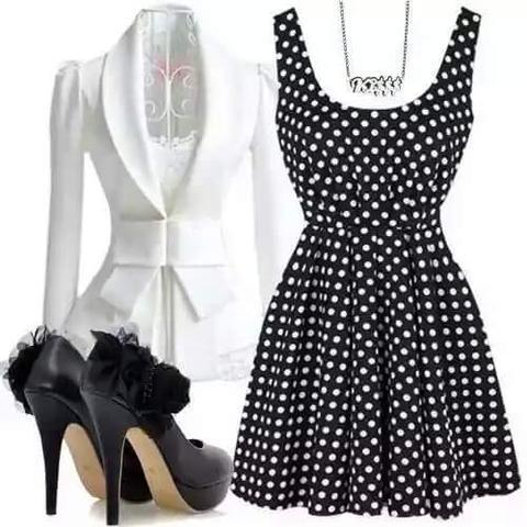 Das gepunktete Kleid 😊 - (Mode, Kleid)