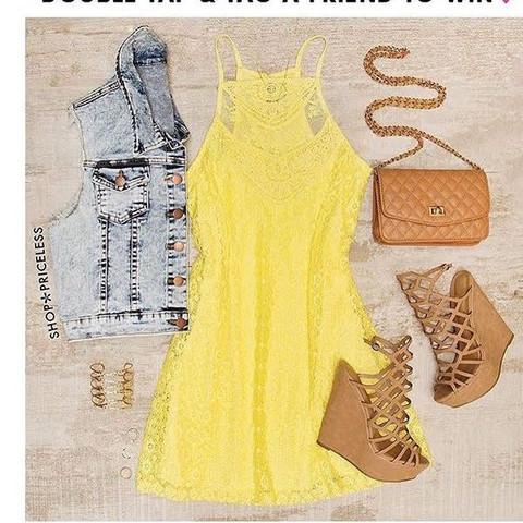 Also das gelbe Kleid  - (Internet, Geld, Beauty)
