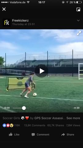 Hier ist das besagte Tor zu sehen  - (Sport, Fußball, Training)
