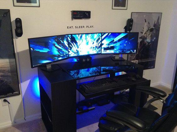 Gaming schreibtisch selber bauen  Wo gibt es Gaming Tische wie Montana Black? Suche einfachen Gaming ...