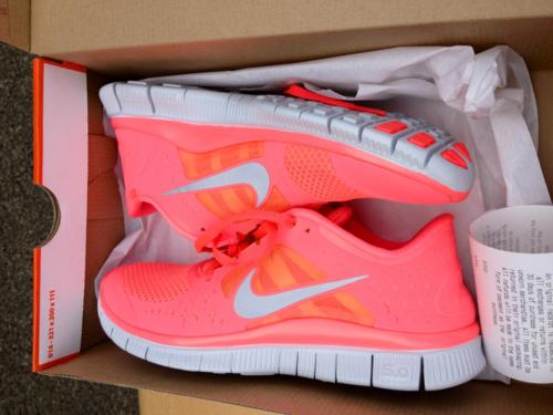 Nike free run +3 neon pink - (Sport, Nike, Fashion)
