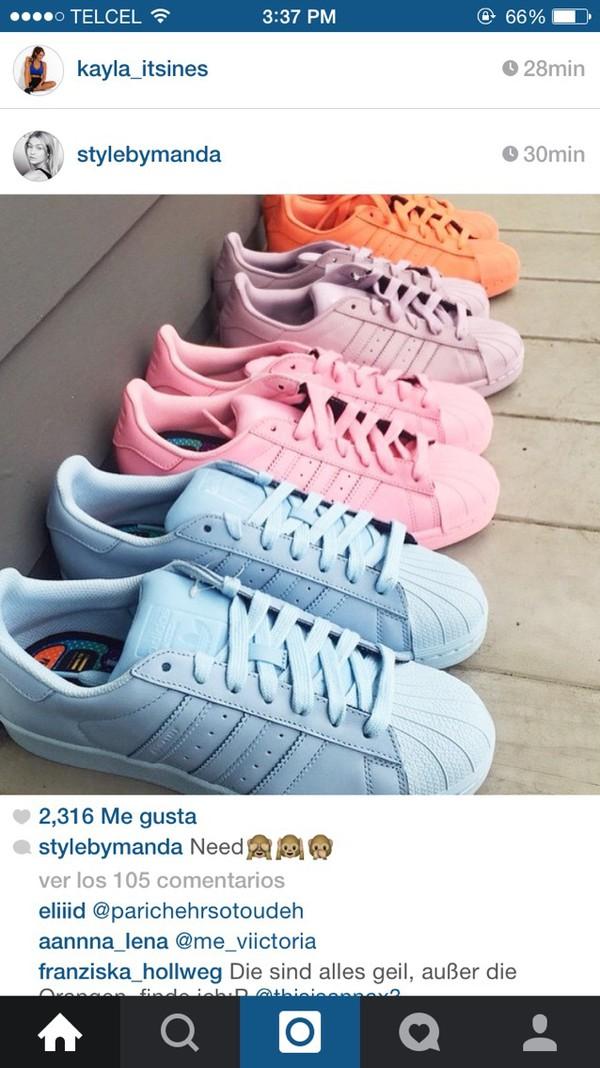 Adidas Superstars Pastell