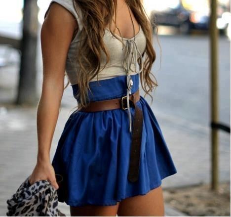 Der blaue Rock :) - (Mode, Kleidung, Rock)