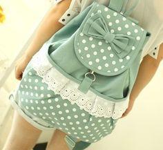 Backpack - (Schule, Rucksack, Schleifen)