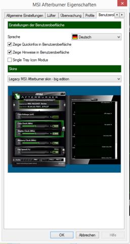 """Settings"" bei mir, MSI Afterburner 3.0.1 - (Computer, Programm, Aufnahme)"