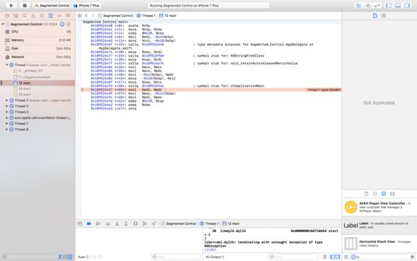 die Fehlermeldung - (Fehlermeldung, Xcode, Swift)
