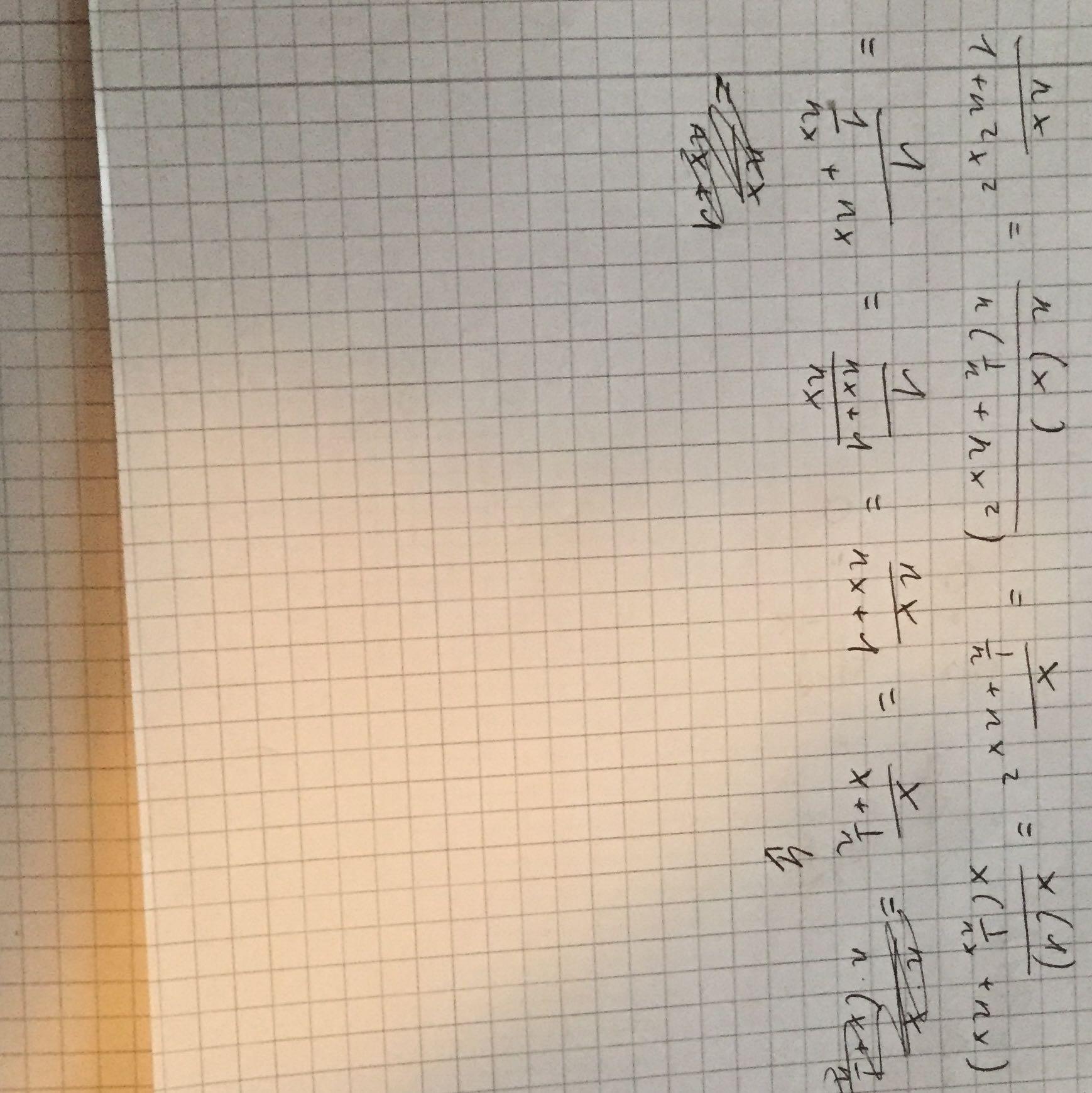 wo ist der fehler in meiner umformung? (mathematik, gleichungen)