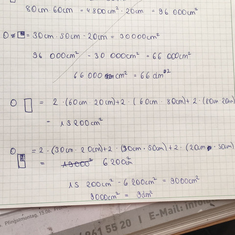 Rechnung - (Mathe, Volumen)
