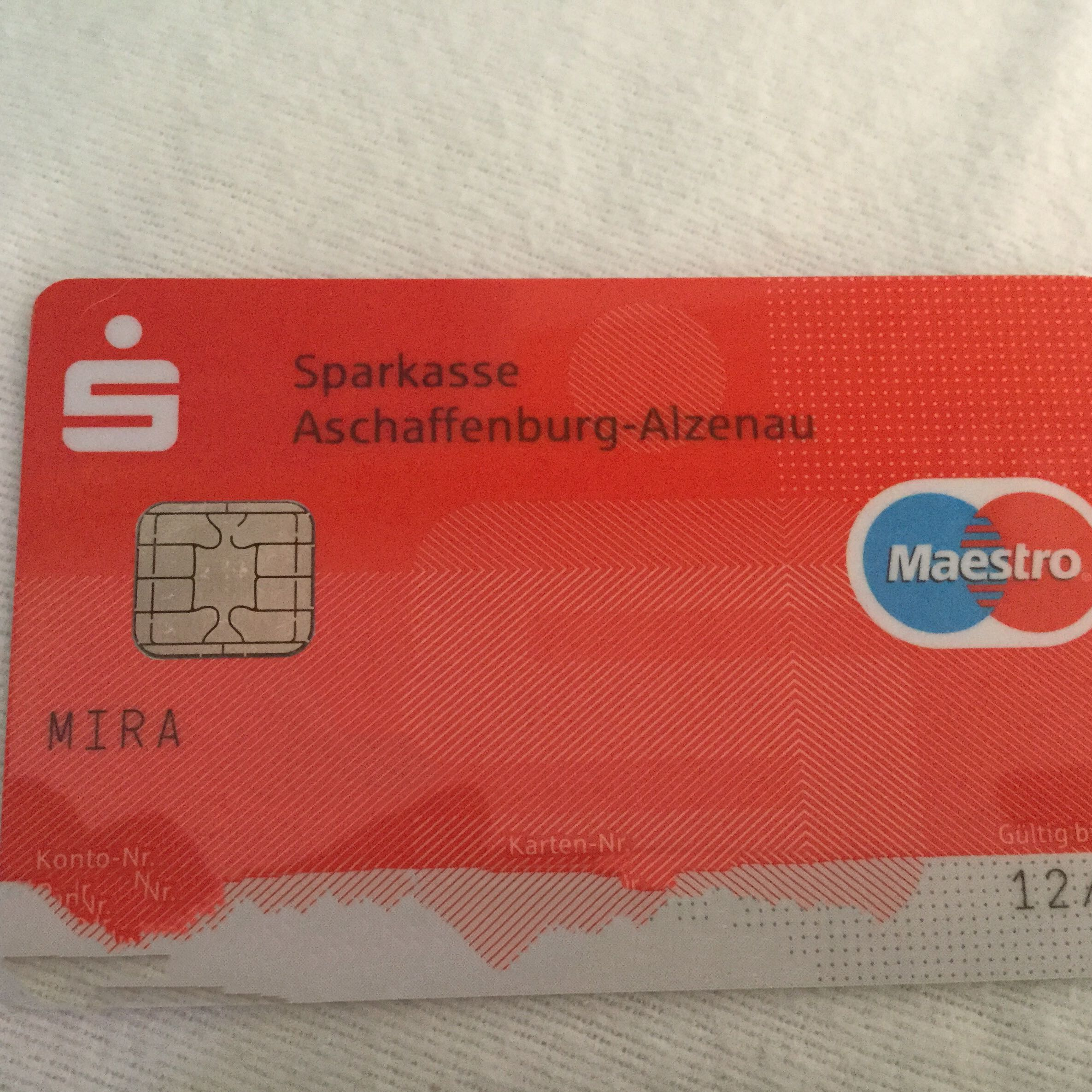 Sicherheitscode Kreditkarte Maestro