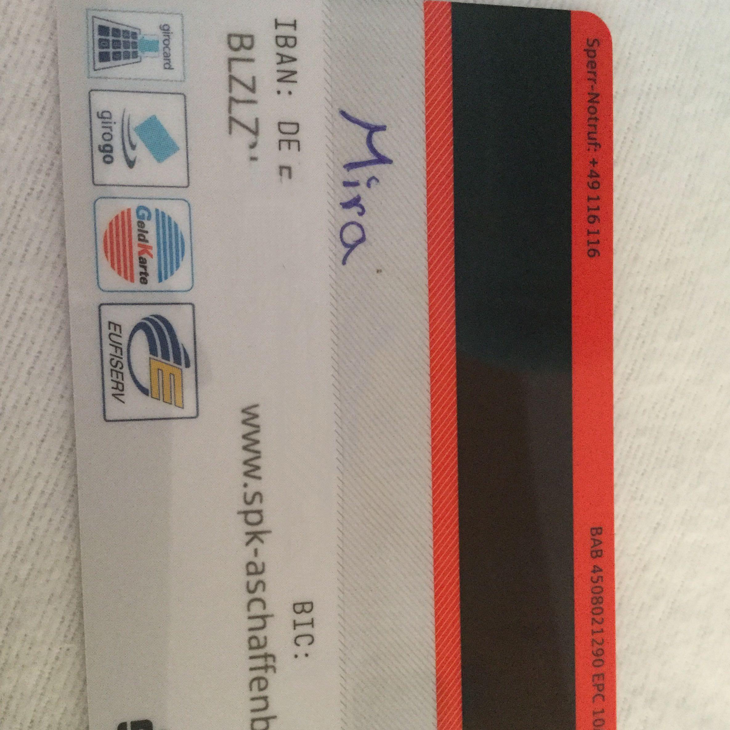 Sicherheitscode Sparkassenkarte