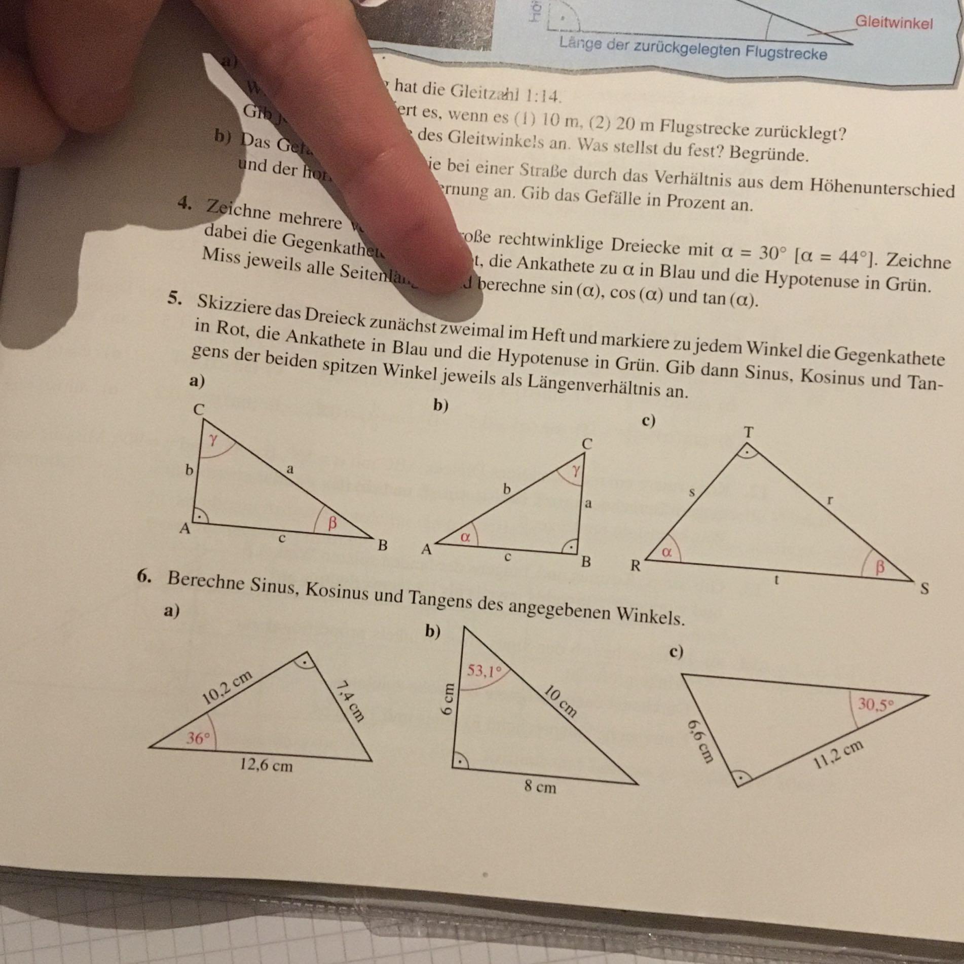 Wo ist der sinn die das dreieck zweimal zu skizzieren? (Schule ...
