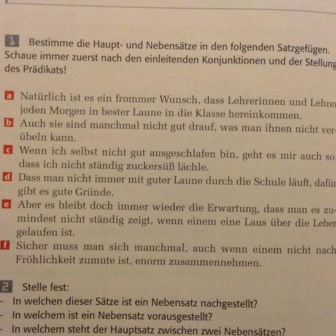 Satz a) - (Schule, deutsch)