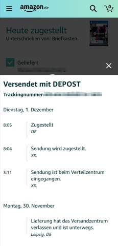 - (Amazon, Post, DHL)