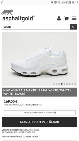 Wo kann ich die Nike Tuned 1 Damen in weiß kaufen? (Schuhe