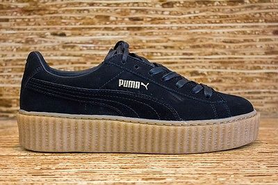 wo kann ich die puma by rihanna creepers in oatmeal black kaufen schuhe. Black Bedroom Furniture Sets. Home Design Ideas