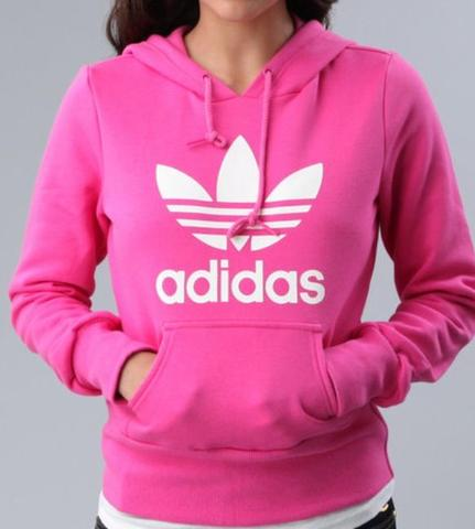 pinker pullover adidas