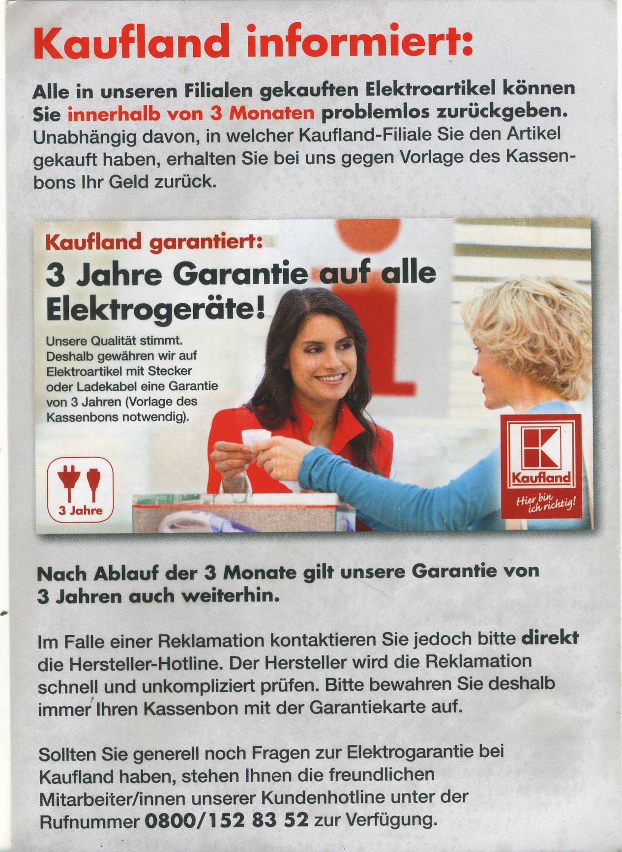 kaufland reklamation