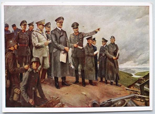 Postkarte gelaufen Führer im Kampfgelände - (Freizeit, verkaufen, postkarte)