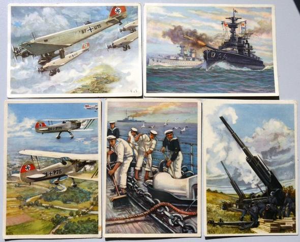 """5 Postkarten """"Deutsche Wehrmacht"""", gelaufen - (Freizeit, verkaufen, postkarte)"""
