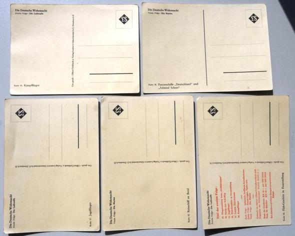 5 Postkarten wie vor, Rückseiten - (Freizeit, verkaufen, postkarte)