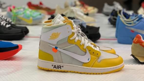 Wo kann man die Jordan 1 Off White - Canary Yellow kaufen?