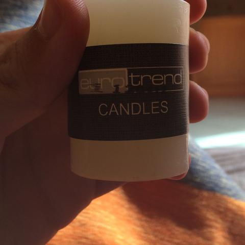 Etikett Vorderseite - (Name, gesucht, Kerzen)