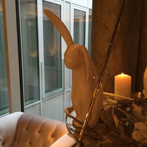 Weißer Deko-Hase - (weiss, Hasen, Dekoration)