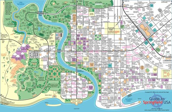 Wo liegt das Haus der Simpsons? (Karte dabei) (TV, Karten, Stadt)