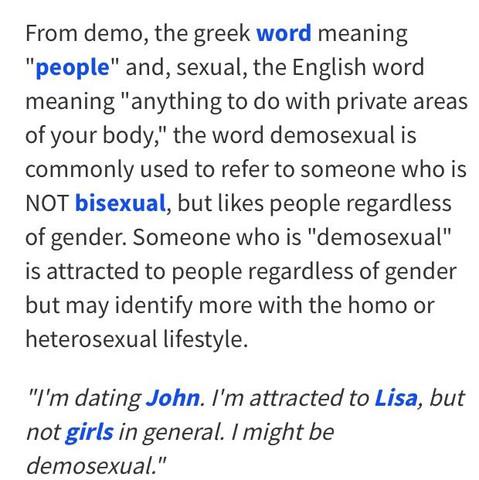 Demosexuell - (Sexualitaet, Unterschied, Geschlecht)