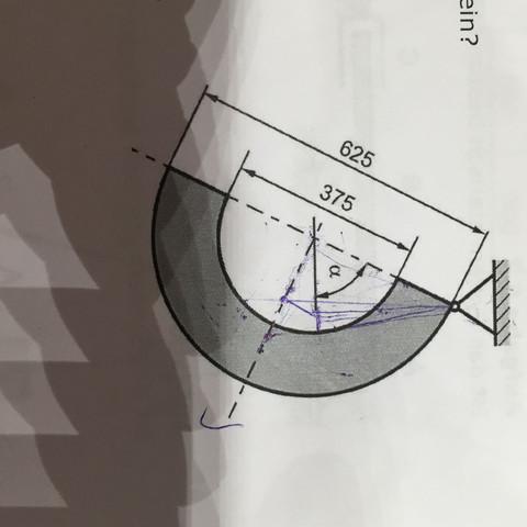 Gesucht ist der Winkel Alpha. - (Schule, Physik, Studium)