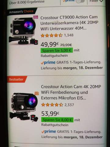 Wo liegt der Unterschied zwischen den action cam's?