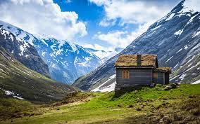 Haus in Norwegen - (Haus, Schnee, Berge)