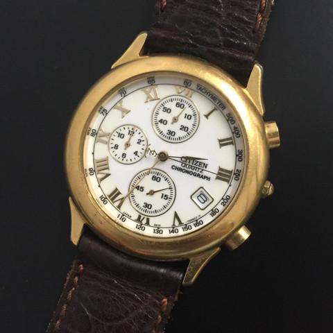 So sieht sie von vorne aus - (Uhr, Vintage, citizens)