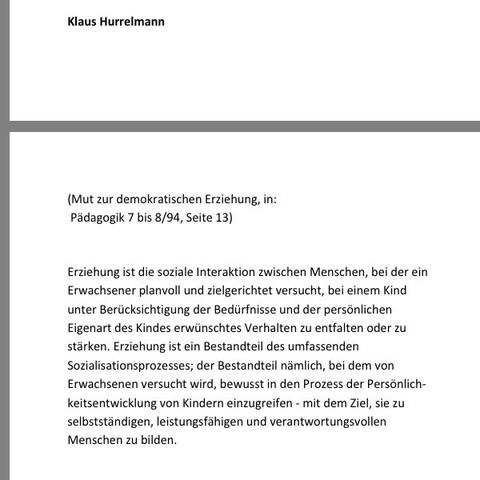 Hurrelmann - (Schule, Kinder, Erziehung)