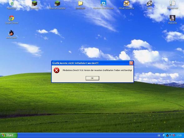 Problem mit DirectX bei WIndows XP - (Windows, Software, Hardware)