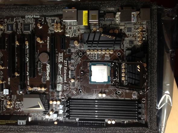 Bild vom mainboard..ram ist noch nicht eingebaut worden - (PC, Gaming, bauen)