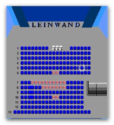 Kinoplätze - (Freunde, Kino)