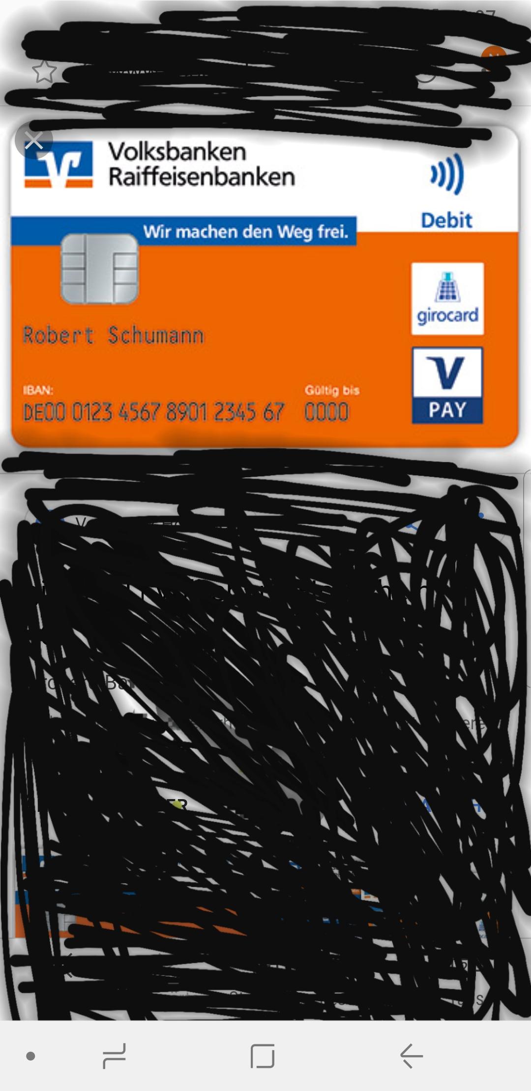 Kartennummer Volksbank Debit.Wo Steht Da Meine Kartennummer Bank Kreditkarte