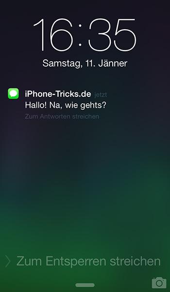 whatsapp nachrichten nicht mehr auf sperrbildschirm anzeigen iphone