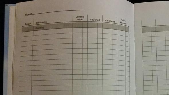 Haushaltsbuch - (Geld, sparen, ausgeben)