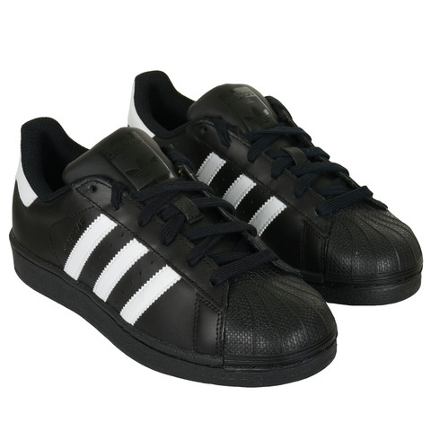 Schwarze weiße Superstars - (Schuhe, schwarz, adidas)