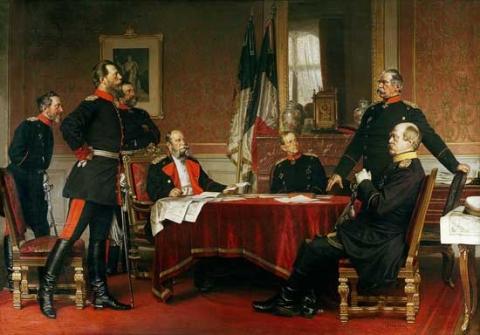 Kriegsrat in Versailles - Anton von Werner - (Bilder, Geschichte, Kunst)