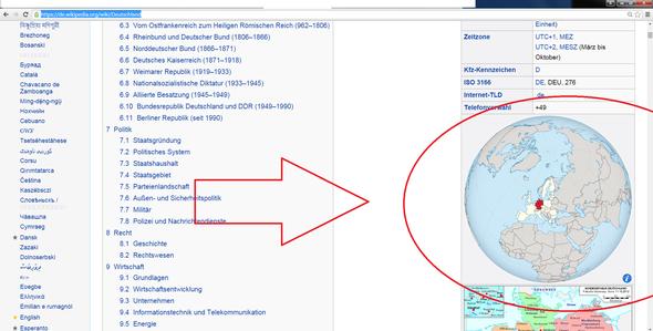 Karte von Wikipedia - (Wikipedia, von wo, Klickkarten)