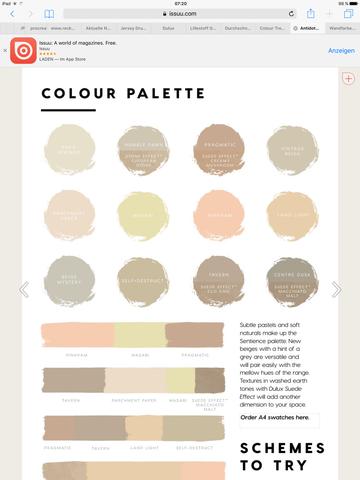 Farbpalette Sentience Dulux - (Farbe, heimwerken, Maler)