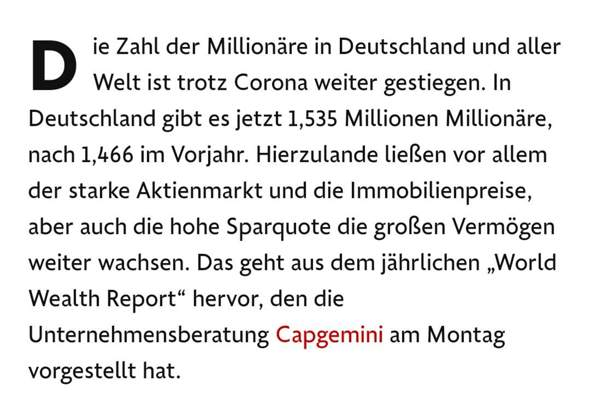 Where can one supposed to know the exact number of millionaires in Germany?