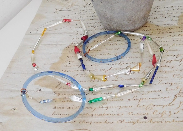 Antike Glasgirlande - (Weihnachten, Antik)