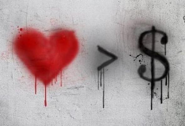 love is greate than money - (Geld, Bank, Kredit)