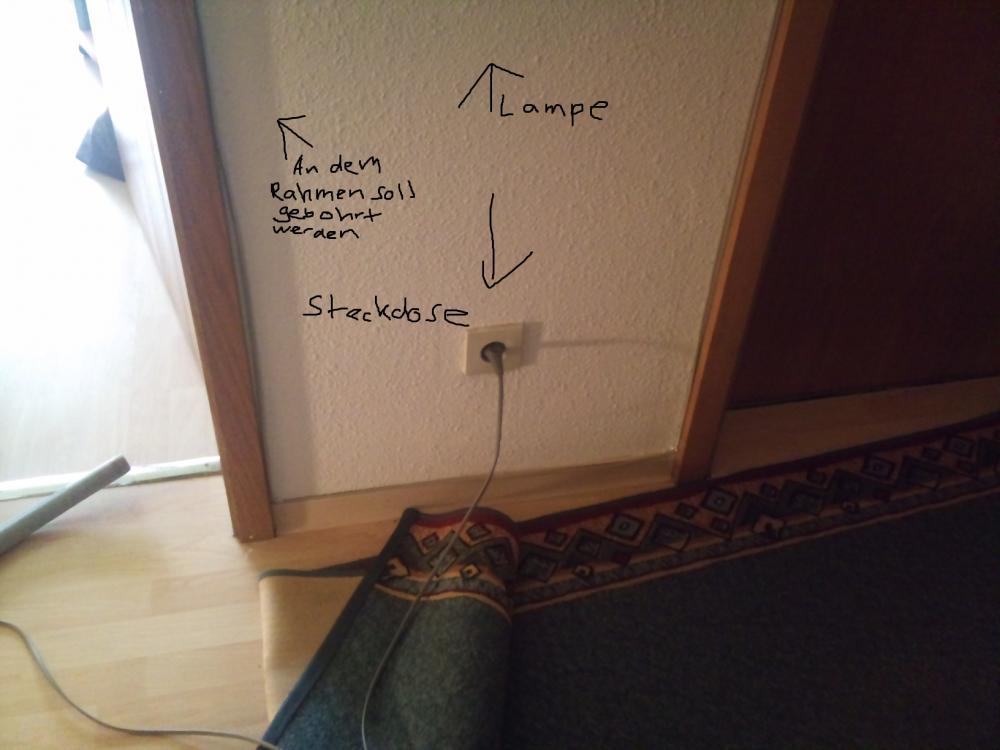 Woher weiß ich ob uber den Türrahmen eine Leitung läuft