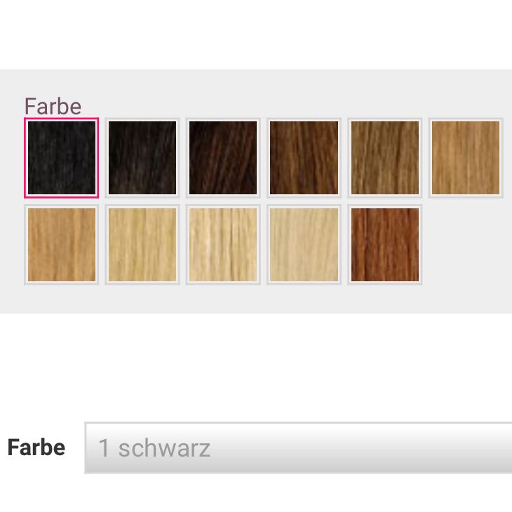 woher wei ich welche farbe ich brauche bei clip in. Black Bedroom Furniture Sets. Home Design Ideas