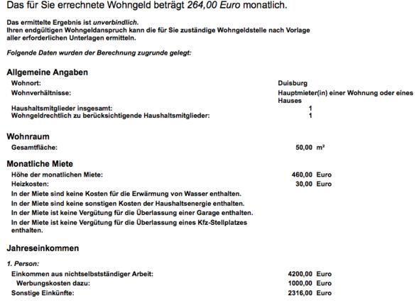 Rechner - (Wohngeld, FSJ, Wohngeld-Rechner)